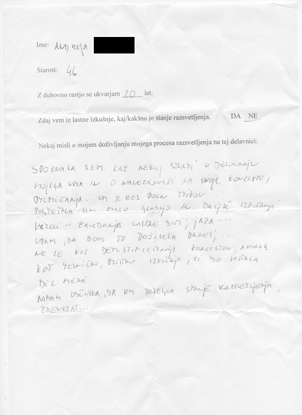 izjave z delavnice za razsvetljenje v LJ